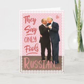 Funny Donald Trump Vladimir Putin Valentine's Day Holiday Card