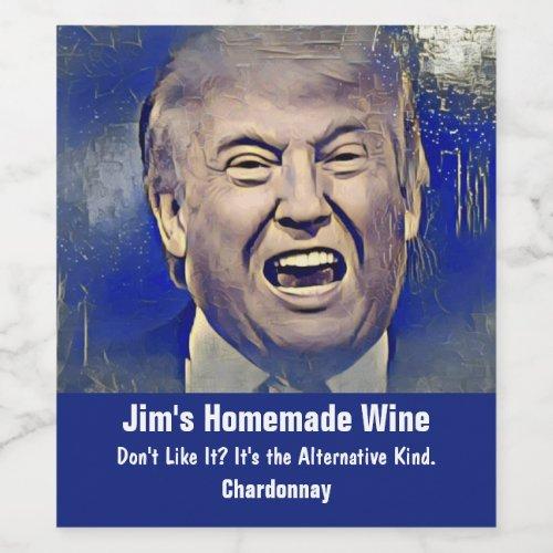 Funny Donald Trump Wine Labels