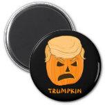 Funny Donald Trumpkin Pumpkin Jack-o-lantern 2 Inch Round Magnet