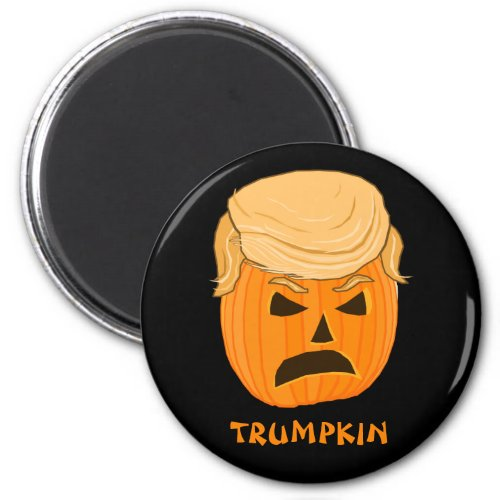 Funny Donald Trumpkin Pumpkin Jack_o_lantern Magnet