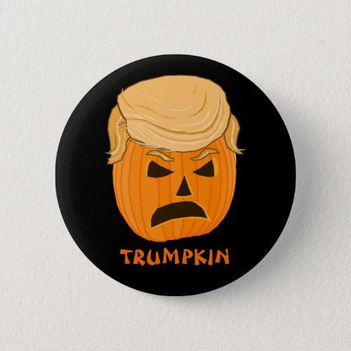 Funny Donald Trumpkin Pumpkin Jack_o_lantern Pinback Button