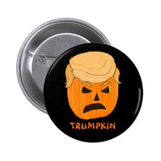 Funny Donald Trumpkin Pumpkin Jack-o-lantern Pinback Button