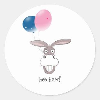 Funny Donkey Face Cartoon Sticker