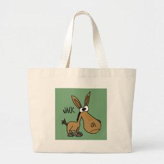 Funny Donkey named Jack Jumbo Tote Bag