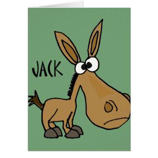 Funny Donkey named Jack Card