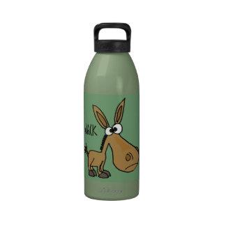 Funny Donkey named Jack Reusable Water Bottle