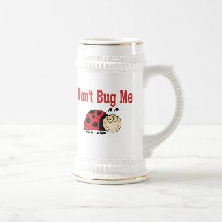 Funny Don't Bug Me Ladybug 18 Oz Beer Stein