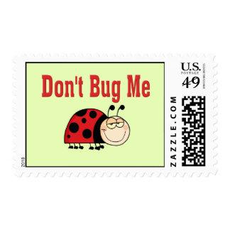 Funny Don't Bug Me Ladybug Postage Stamp
