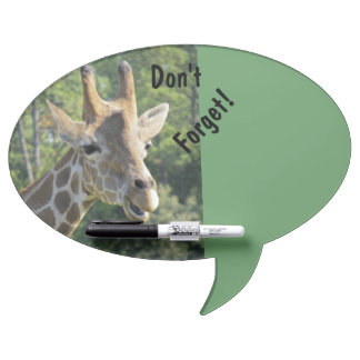 Funny Don't Forget Giraffe Dry-Erase Board