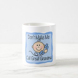 Funny Don't Make Me Call Great Grandma Classic White Coffee Mug