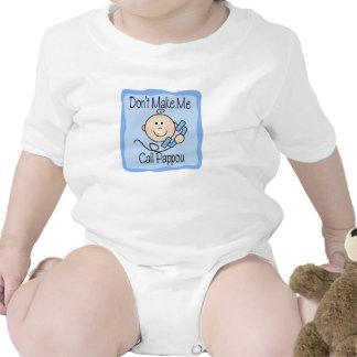 Funny Don't Make Me Call Pappou Baby Bodysuits