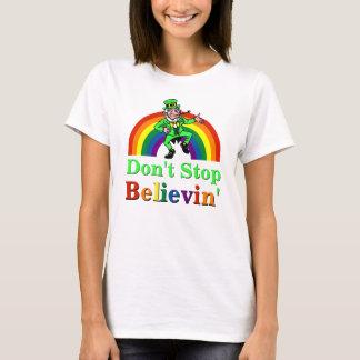 Funny Don't Stop Believin' Leprechaun St. Patricks T-Shirt