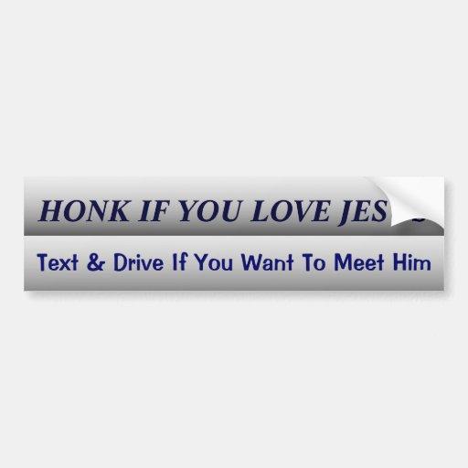 Funny Dont Text and Drive Slogan Car Bumper Sticker | Zazzle