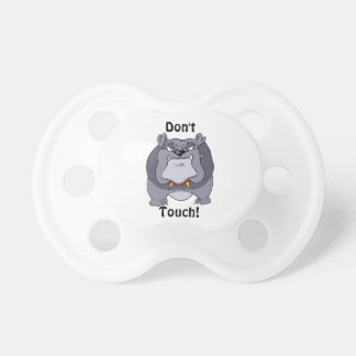 Funny Don't Touch Bulldog Pacifier BooginHead Pacifier