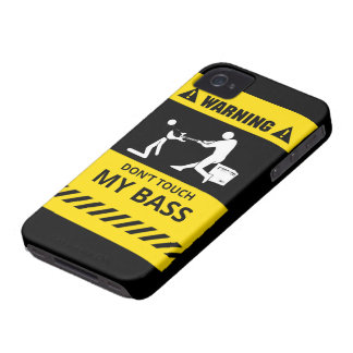 Funny Don't Touch My Bass iPhone 4 Case-Mate Case