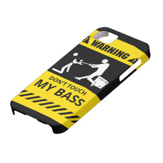 Funny Don't Touch My Bass iPhone SE/5/5s Case