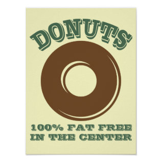 Funny Donut Poster at Zazzle