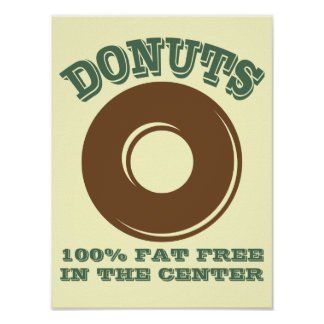 Funny Donut Poster