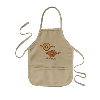 """Funny """"Donut worry, be happy"""" Kids' Apron"""