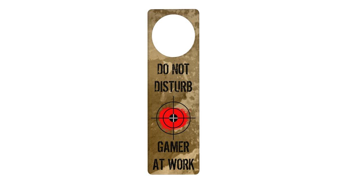 funny door hanger for gamers
