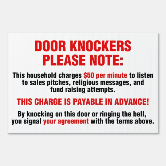 Funny Door Knockers $50 Per Minute For Soliciting Sign  sc 1 st  Zazzle & Funny Door Knockers $50 Per Minute For Soliciting Sign | Zazzle.com