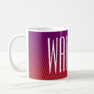 Funny Dots Pattern violet orange + your text Coffee Mug