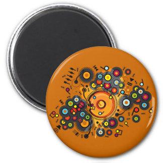 Funny_Doughnut 2 Inch Round Magnet