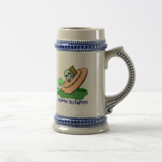 Funny Down To Earth Alien T-shirts Gifts Beer Stein