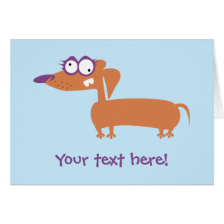 Funny Doxie Greeting Card