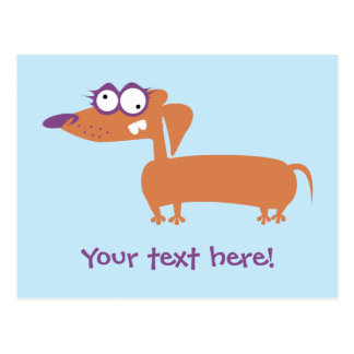 Funny Doxie Postcard