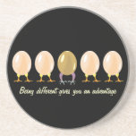 funny dragon and chickens eggs  Coaster