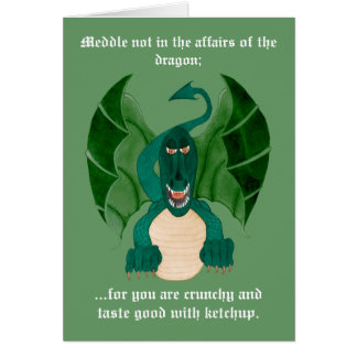 Funny Dragon Greetings Cards