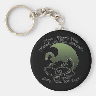 Funny Dragon Joke Keychains