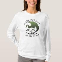 Funny Dragon Joke Ladies Long Sleeved T-Shirts