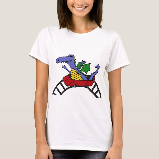 Funny Dragon on a Roller Coaster T-Shirt