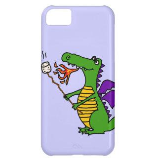 Funny Dragon Roasting Marshmallows Cartoon iPhone 5C Cover