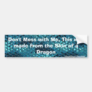 Funny Dragon Scale Bumper Sticker Car Bumper Sticker