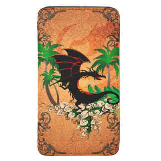 Funny dragon with palm and flowers galaxy s5 pouch