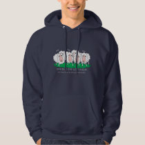 funny drawing of the lost sheep hoodie