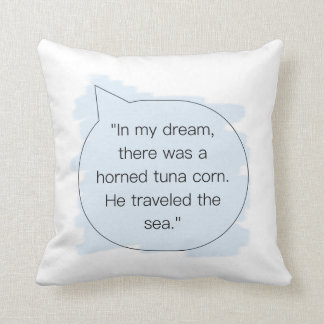 Funny Dream Sea Throw Pillow