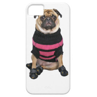 Funny dressed up pug dog with sweater and boots iPhone 5 covers