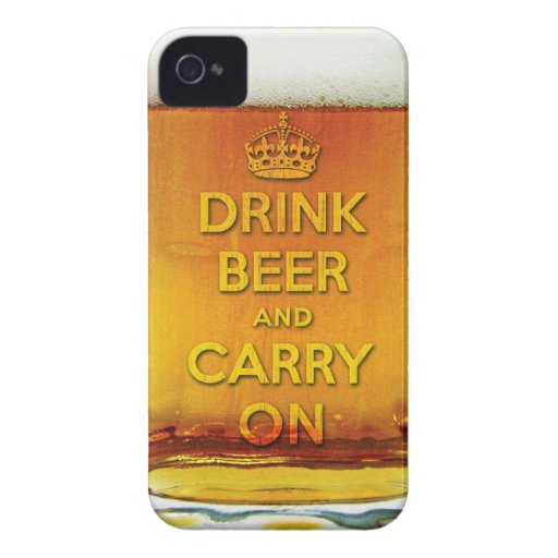 Funny drink beer and carry on iPhone 4 Case-Mate cases