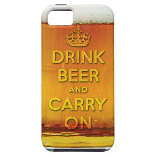 Funny drink beer and carry on iPhone 5 case