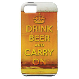 Funny drink beer and carry on iPhone 5 cases