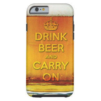 Funny drink beer and carry on iPhone 6 case