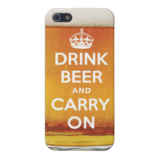 Funny drink beer and carry on iPhone SE/5/5s cover