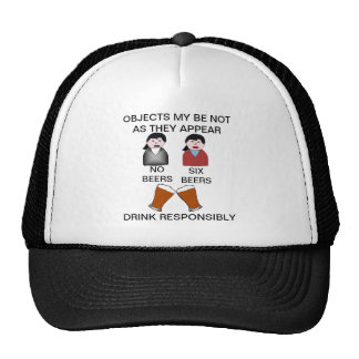 Funny Drink Responsibly Ball Cap Trucker Hat