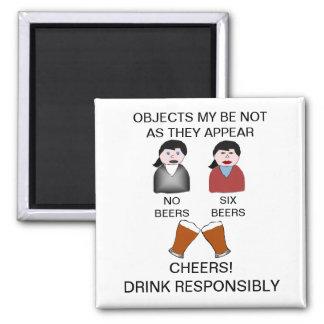 Funny Drink Responsibly Fridge Magnet