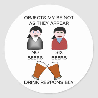 Funny Drink Responsibly Sticker