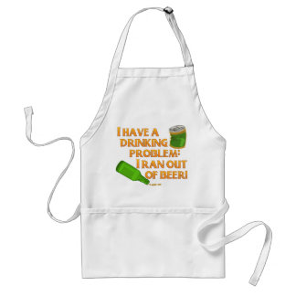 Funny Drinking Beer Adult Apron